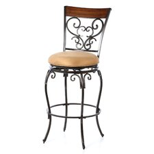 "Knightsbridge 30"" Swivel Bar Stool with Cushion"