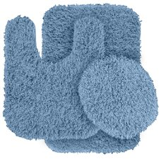 Jazz Shaggy Bath Rug (Set of 3)