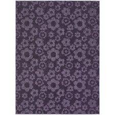 Magic Odor Eliminating Purple Flowers Rug