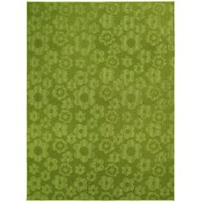 Magic Odor Eliminating Lime Flowers Area Rug