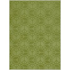 Magic Odor Eliminating Lime Large Peace Rug