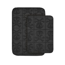 <strong>Garland Rug</strong> Skulls Bath Rug (Set of 2)