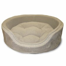 Cuddle Round Suede Terry Pet Bed
