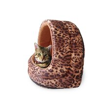 Furry Canopy Cave Cat Bed