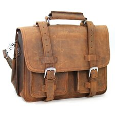 "16"" CEO Leather Briefcase and Backpack Tote"