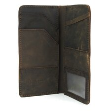 "<strong>Vagabond Traveler</strong> 8.75"" Cowhide Leather Passport Air Ticket Holder"