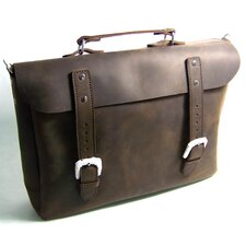 "17"" Cowhide Leather Messenger Bag"