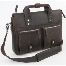 "15"" Leather Shoulder Messenger Bag"