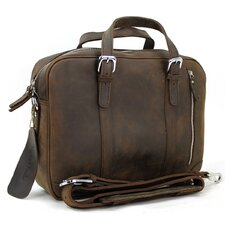 "16.5"" Fine Leather Laptop Messenger Bag"