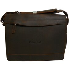 Signature Leather Messenger Laptop Bag
