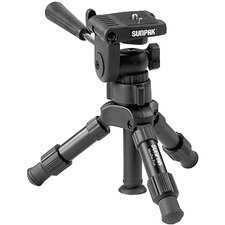 <strong>Sunpak Tripods</strong> Mini-Pro Plus Tripod with 3-Way Panhead