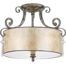 Kendra 3 Light Semi Flush Light