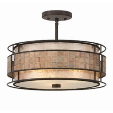 Mica 3 Light Semi Flush Light