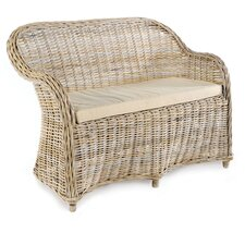 Maya Rattan Two Seater Armchair