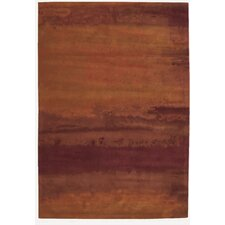 <strong>Calvin Klein Home Rug Collection</strong> Luster Wash Russet Tones Rug