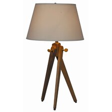 """Woody 27"""" H Table Lamp with Empire Shade"""