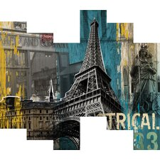3D Structural Paris Trip Painting