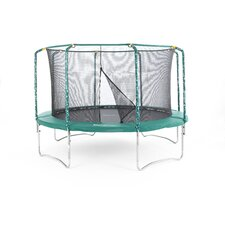 Plus Trampoline in Green with Enclosure and Cover