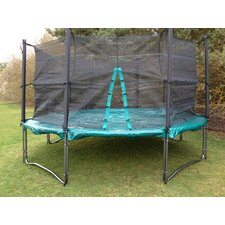 Xtreme Trampoline in Green with Enclosure, Cover and Ladder