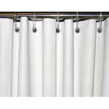 Heavy-Duty Textured Shower Curtain
