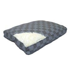 40 Winks Check Box Mattress Dog Bed in Grey