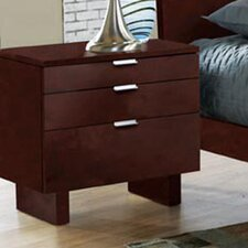 Violet 3 Drawer Nightstand