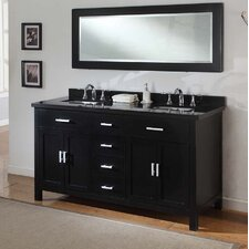 "Hutton Spa 63"" Elite Double Bathroom Vanity Set"