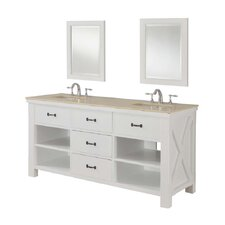 "Xtraordinary 70"" Spa Double Vanity Set"