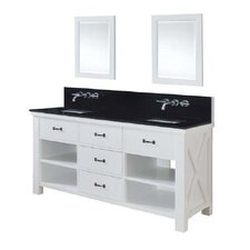 "Xtraordinary 70"" Spa Premium Double Vanity Set"