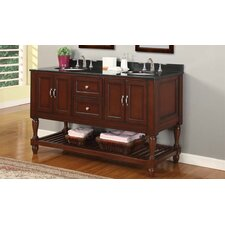 "Mission 60"" Double Sink Bathroom Vanity Set"