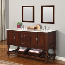 "Mission Turnleg 60"" Double Bathroom Vanity Set"