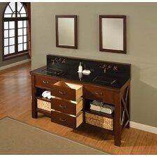 """Xtraordinary 70"""" Espresso Spa Premium Double Vanity Set"""