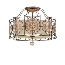 Marcella 3 Light Semi Flush Light