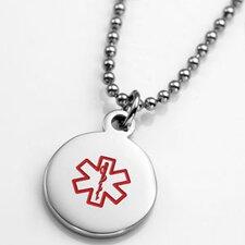 Round Medical ID Alert Charm Pendant