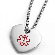 Medical ID Alert Heart Charm Pendant