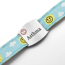 Children's Asthma Sun and Clouds Sport Strap ID Bracelet
