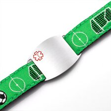 Children's Soccer Sport Strap Bracelet with Medical ID Tag
