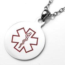 Round Medical Pendant with Symbol