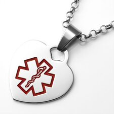 Heart Pendant with Medical Symbol
