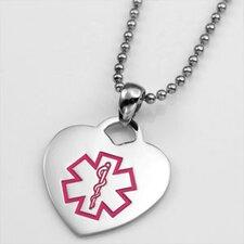 Heart Medical Alert Pendant with Symbol