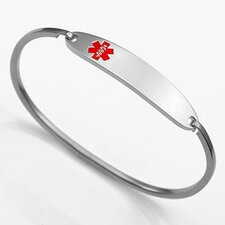 <strong>Sticky Jewelry</strong> Medical ID Bangle Bracelet