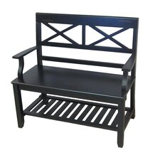<strong>Ultimate Accents</strong> Double X Wooden Bench