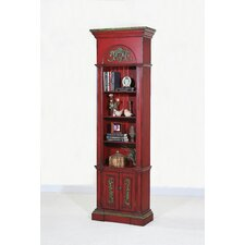 Crimson Narrow Bookcase Distressed Crimson