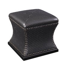 Sparkle Leather Storage Ottoman