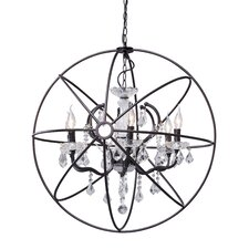 Diamond 6 Light Ceiling Lamp