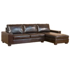 Bonded Leather 3 Seater Corner Sofa