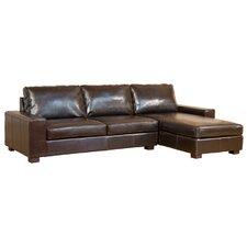 Bonded Leather 3 Seater Corner Sofa