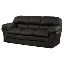 Serpentine Springs Bonded Leather 3 Seater Sofa