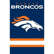 Broncos Applique Banner Flag