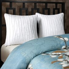 Sakura 3 Piece King European Sham Set
